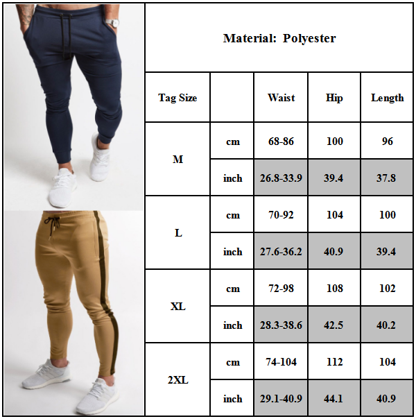 Mens Gym Slim Fit Sweat Pants Bottoms Jogging Joggers Casual Running Trousers Clothing, Shoes & Accessories