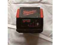 MILWAUKEE 18V LITHIUM-ION BATTERY FOR SALE , BATTERY HOLD FULL CHARGE FOR SALE. £39, NO OFFERS