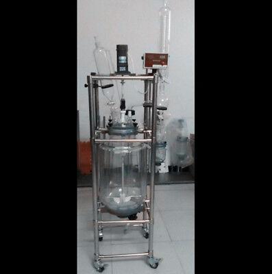 Ce 100l Explosion Proof Motor Jacket Chemical Reactor Glass Reaction Vessel