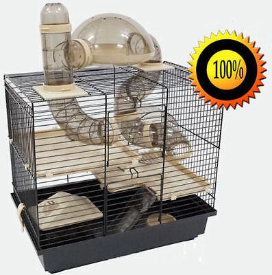 XXL Nagerkäfig Hamsterkäfig Mäusekäfig Käfig viele Röhren, Haus, Laufrad Rocky