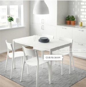 IKEA Melltorp white table