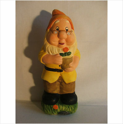 LATEX MOULD MOULDS MOLD.  11 INCH GNOME WITH FLOWERPOT