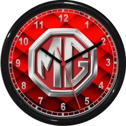 MG Emblem Wall Clock Garage Work Shop Gift  Father's Day Man Cave Rec Room