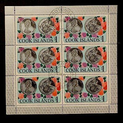 O5/3 Cook Islands 1978 M/S Of 6 $1 Scott # 502 Cancelled NHOG XF