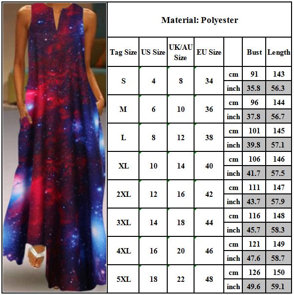 Women's Boho Sleeveless Maxi Dress Summer Casual Tank Long Sundress Plus Size Clothing, Shoes & Accessories