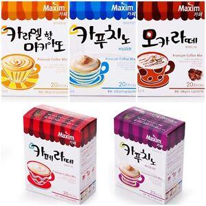 MAXIM-CAFE-Cappuccino-Mocha-Latte-Macchiato-INSTANT-COFFEE-MIX-STICKS-KOREAN