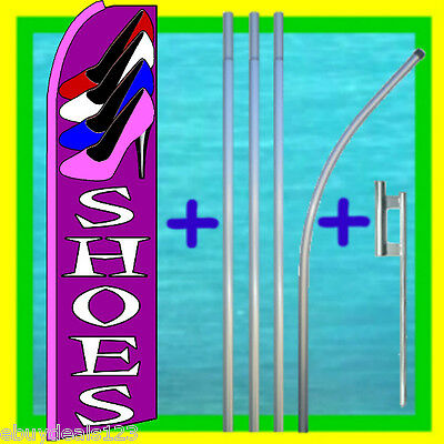 Shoes 15 Tall Swooper Flag Pole Mount Feather Flutter Bow Banner Sign