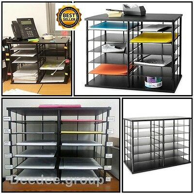 office storage organizer shelves desk cabinet holders paper file tray