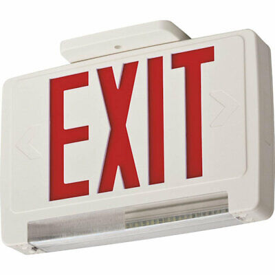 Lithonia Ecbr Led M6 Led Exitemergency Light Bar Combo Fixture Red Letters -new