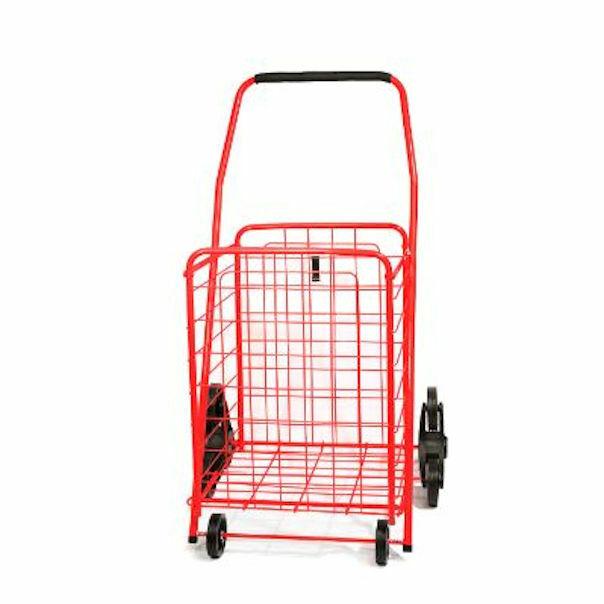 Ideaworks Stair Climber Shopper Cart - Red