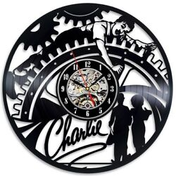 Charlie Chaplin  Vinyl Record Wall Art Clock Room Design Wall Decor Gift Idea