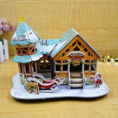 Baby Christmas Games (Christmas Child Baby Christmas House Educational Toy 3D Stereo Puzzle)