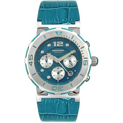 Immersion Blue Dial Genuine Leather Womens Maui Watch 6976