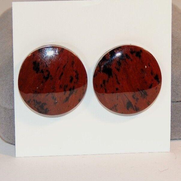 Mahogany Obsidian Round Cabochons 19mm  Set of 2 (7178)