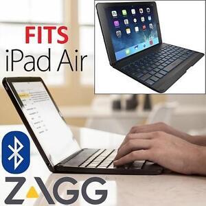 USED ZAGG IPAD AIR KEYBOARD CASE Folio Case with Backlit Bluetooth Keyboard - BLACK - ELECTRONICS 105897904