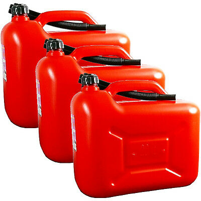 3x 20L Liter Neu Rot Kraftstoffkanister Benzinkanister Diesel Reserve Kanister