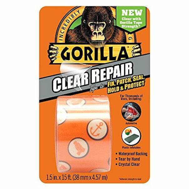 "Gorilla Crystal Duct One Tape, 1.5"" x 5 yd, Clear"