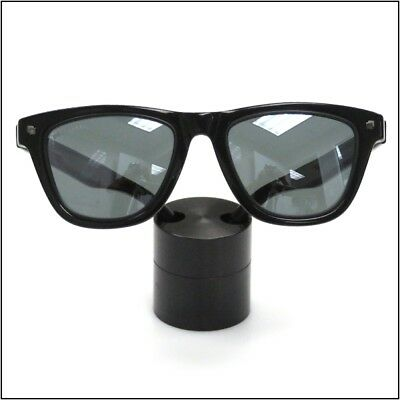 Optical Display - Small Premium Solid Aluminum Cylinder - Black