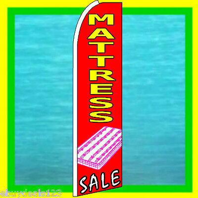 Mattress Sale Swooper Flag Furniture Advertising Sign Feather Flutter Bow Banner