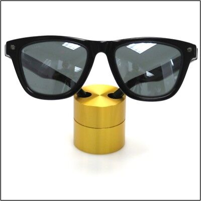 Optical Display - Small Premium Solid Aluminum Cylinder - Gold