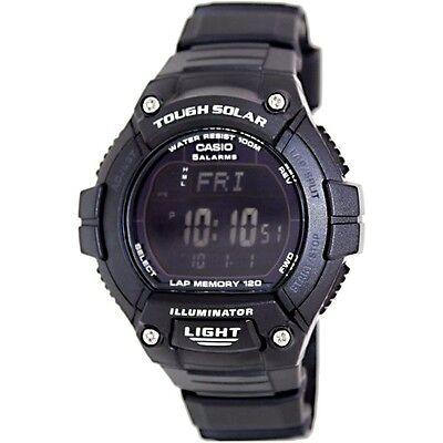 Casio WS220-1B Mens Solar Powered Led Light Sports Watch - LAP MEMORY 120 Memory World Time Watch