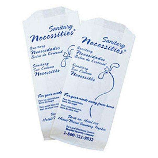 Hotel/Motel Sanitary Napkin Disposal Bag, Case of 500