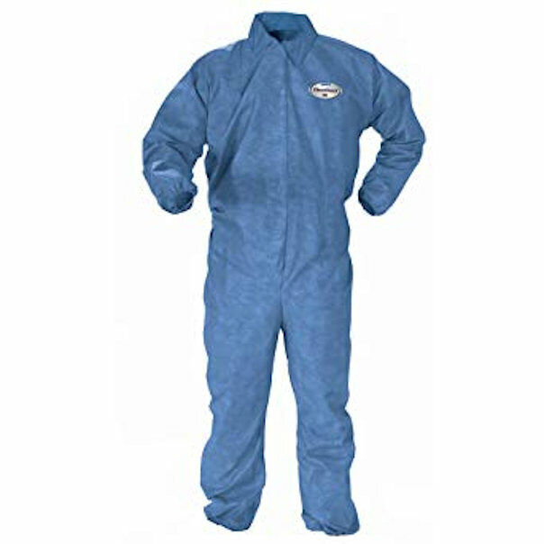 KleenGuard A60 Chemical Splash Protection Coveralls, Zipper Front 2XL - 45235