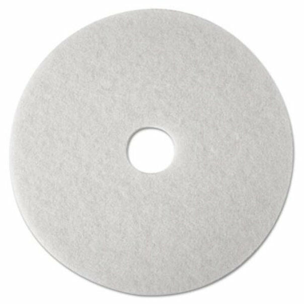 """3M 20"""" Super Polishing Floor Pads in White 4100, 5 Pads (New Damaged Box)"""
