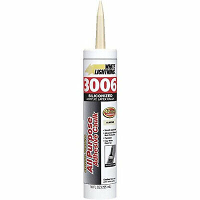 White 3006 Siliconized Acrylic Latex All Purpose Caulk 10 Oz Cartridge Almond