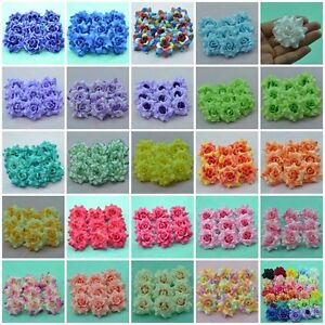 100-MIXED-ARTIFICIAL-SILK-FLOWER-HEAD-VELVET-ROSE-CRAFT-WEDDING-DIA-4-5-CM-1-77