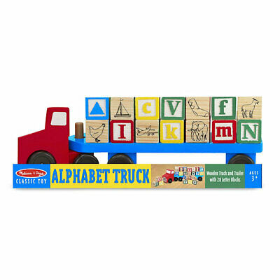 Melissa & Doug Alphabet Blocks Wooden Truck Educational Toy