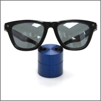 Optical Display - Small Premium Solid Aluminum Cylinder - Blue