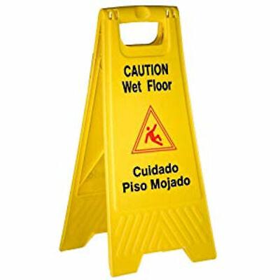 Better Brush Products Wet Floor Signbright Yellow Plastic