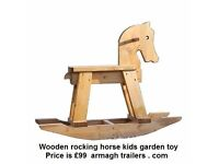WOODEN KIDS GARDEN TOY ROCKING HORSE SEE-SAW WISHING WELLS BENCHES PICNIC TABLES FURNITURE