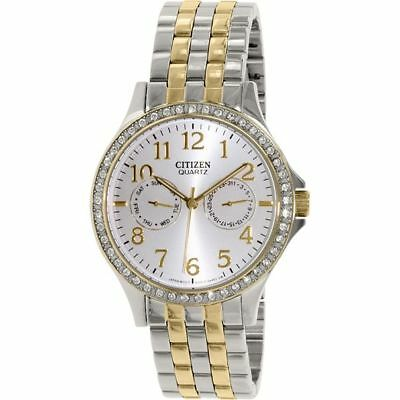 NEW Citizen Quartz Swarovski Multi Dial Calendar Elegant Ladies Watch ED8114-57A