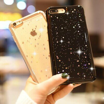 Bling Glitter Silicone Phone Case Clear Soft TPU Cover For iPhone 7 Plus 8 6s X