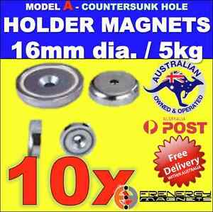 10X-Magnetic-Countersunk-Pot-Holders-16mm-dia-5-kg-hold-capacity