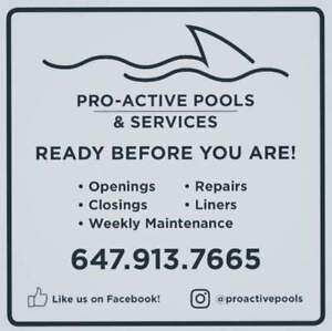 POOL OPENING DEAL @ PRO-ACTIVE POOL & SERVICES