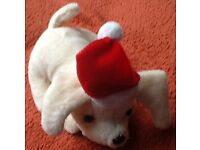Teddy dog with Santa hat brand new stocking filler