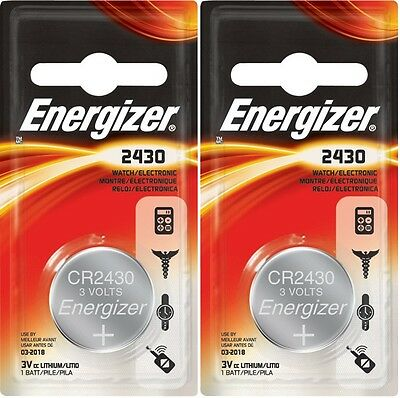 2 pcs Energizer ECR2430 CR 2430 CR2430 3v Battery on Rummage
