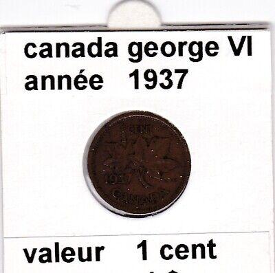 C 2 ) pieces de 1 cent canada george VI 1937