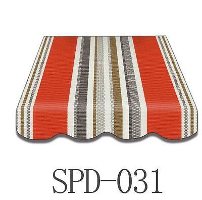 Markisenstoff Markisenbespannung Ersatzstoff mit Volant 4 x 2,5 m  NEU SPD-031