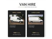 Van Hire - long term rental only - Self Drive - COURIER VAN HIRE- UNLIMITED MILES - courier - driver