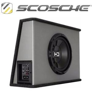 "NEW SCOSCHE HD SUBWOOFER SYSTEM COMES WITH 10"" SUBWOOFER, VENTED ENCLOSURE, AND 250W AMPLIFIER 109136192"