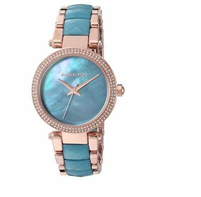 Michael Kors MK6491 Delray Rose Gold and Teal Wrist Watch for Women