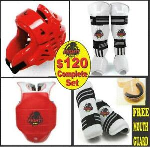 TAEKWONDO SPARRING SET, 60% OFF, SAVE HUGE $$$$ SPACIAL DISCOUNT PRICES FOR SCHOOLS, (905) 364-0440  WWW.FIGHTPRO.CA