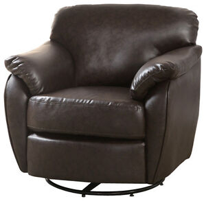 Swivel Accent Chair in Dark Brown - NEW