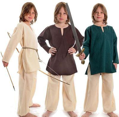 Kinder Mittelalter Kids Jungs Ritter Gewandung Kostüm tunika Überwurf  Baumwolle