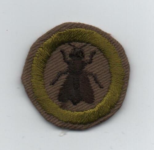 Beekeeping Merit Badge (4-Legs), Type C Tan Narrow Crimped (1938-46), Lt-use!