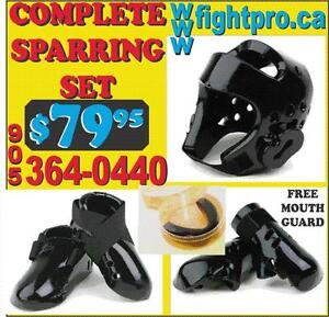 TAEKWONDO SPARRING SET, SAVE 70% OFF ON ALL MARTIAL ARTS UNIFORMS, AND SUPPLIES  (905) 364-0440, WWW.FIGHTPRO.CA